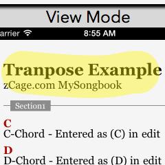 2・Capo & Transposing – MySongbook App
